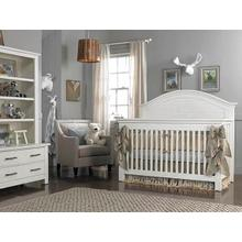 View Product - Lucca Full-Panel Collection - Sea Shell White Finish