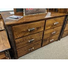 Etchwood Hickory Log 6-Drawer Dresser