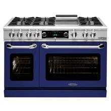 "See Details - Connoisseurian 48"" Dual Fuel Self Clean Range (Signal Blue)"