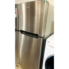 See Details - USED- 25-inch Wide Top Freezer Refrigerator - 11 cu. ft. Monochromatic Stainless Steel- TMSS24-U  SERIAL #27