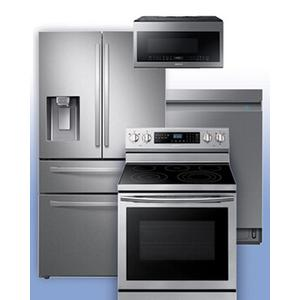 SAMSUNG - Get a Visa Reward Card for 10% off the purchase price of any Samsung 4-piece kitchen package. See 4-Door French Door Refrigerator Example.