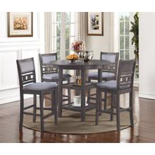 See Details - Gia 5pc Gray Counter Height Dinette Set by New Classic D1701-52