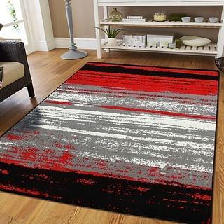 Modern Red Rug 8 x 11