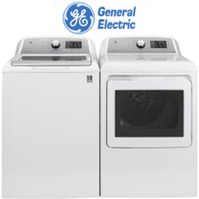 GE LAUNDRY PAIR W/ OXI & FLEX DISPENSE