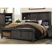 3-Piece Scott Dark Queen Size Storage Bed