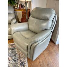 Triumph Light Grey Leather Power Recliner