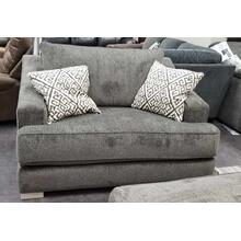 See Details - Double Chair in Lux Iron with Decor Silver pillows