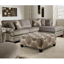 ALBANY 8642SS 2-Piece Groovy Smoke Sectional Sofa