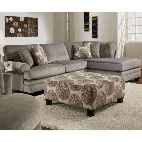 ALBANY 8642GSS 4-Piece Groovy Smoke Sectional Sofa, Swivel Chair & Ottoman Group