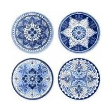 Cobalt Casita Assorted Set of 4 Salad Plates