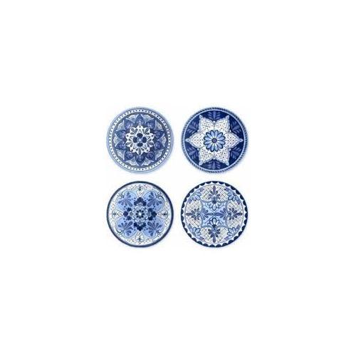 Tarhong - Cobalt Casita Assorted Set of 4 Salad Plates