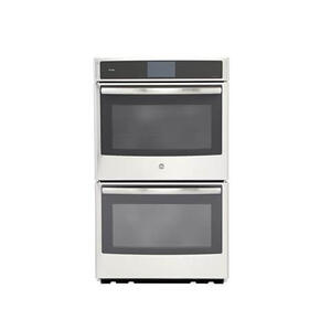 "GE Profile 5.0CF Upper Oven 5.0CF Lower Oven Stainless Steel 30"" Electric Convection Double Wall Oven with Steam/Self Clean"