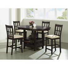 5 Pc Table Counter Height Set with Storage