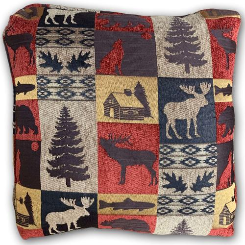 Fairbanks Red Accent Pillow