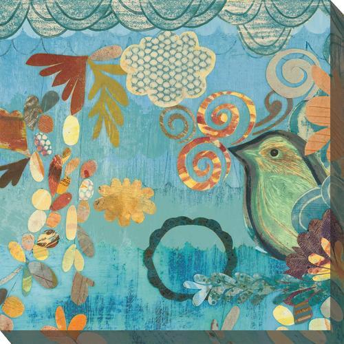 Outdoor Canvas Art - Pretty Bird 24 x 24
