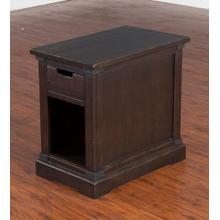 Chairside Table, Charred Oak