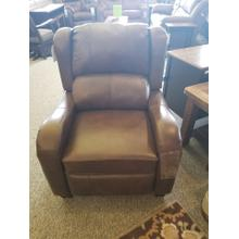 Leather power recliner