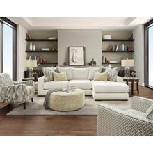Braxton Ivory Chaise Sofa