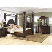 Stark Canopy Bed, Dresser, Mirror, Chest, Night Stand