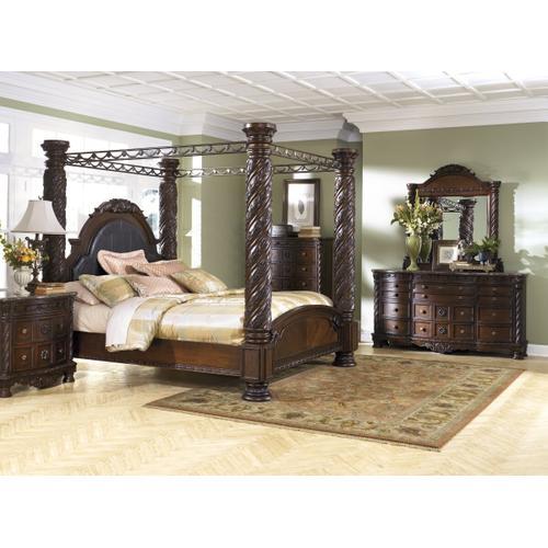 Stark Canopy Bed, Dresser, Mirror, Chest, Night Stand