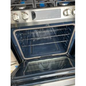 Scratch and Dent 5.8 cu. ft. Slide-in Gas Range with Convection in Stainless Steel