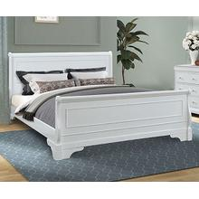 See Details - Versailles White King Size Sleigh Bed