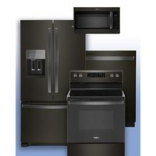 See Details - WHIRLPOOL - Save on this Black Stainless Steel 4 pc package.