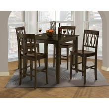 """Style 19 54"""" Counter Height Table and 4 Abbie Wood Chair"""