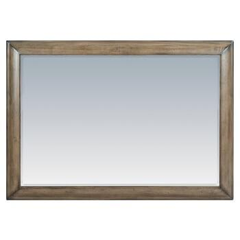RGB Stonewood Landscape Mirror Rustic Glazed Brown Finish