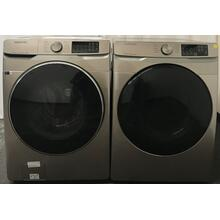 See Details - Samsung 4.5 cu. ft. Smart Front Load Washer & 7.5 cu. ft. Electric Dryer with Steam Sanitize  in Champagne (sold as set)