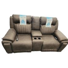 View Product - Power Headrest Reclining Loveseat w/ Heat, Lumbar & Massage- Pasadena Granite