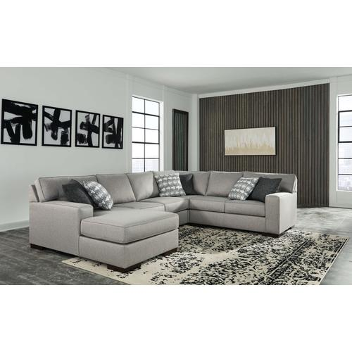Marsing - Nuvella - 4-Piece Sectional with Left Facing Chaise