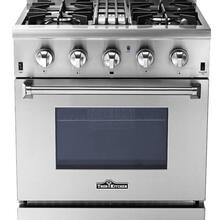 "Discount & Affordable 30"" Professional Dual Fuel Range with 4 gas burners and Electric oven"