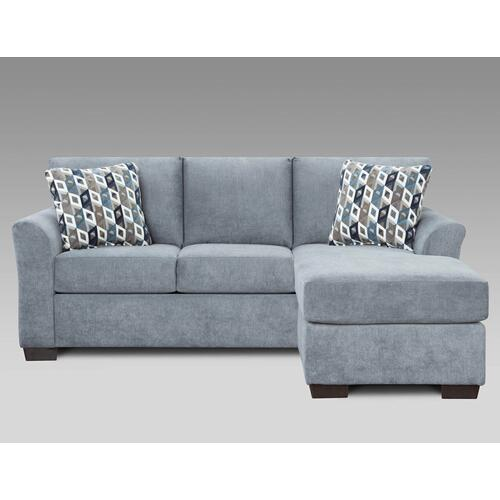 Anna Blue Grey Sofa/Chaise