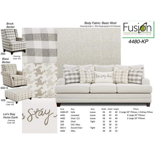 Basic Wool Sofa and Loveseat