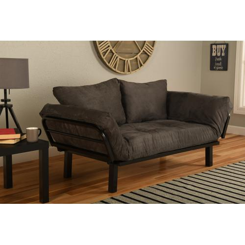 Mattress Discount Southgate - Black Spacely Lounger Suede Grey
