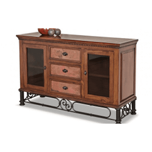 Torreon Iron Base Wood Top Console