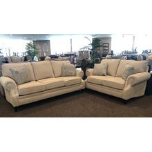 Sofa & Loveseat Set in Katya Pearl