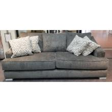 See Details - Sofa in Lux Iron with Decor Silver pillows