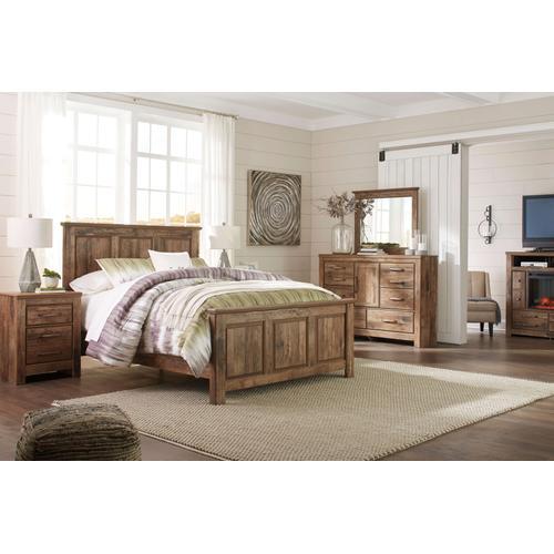 Blaneville - Queen Panel Bed, Dresser, Mirror, 1 x Nightstand