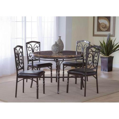 BERNARDS 4550 Tuscan 5-Piece Dinette - Table And 4 Chairs