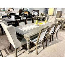 See Details - Table, 4 Side Chairs and 2 Upholstered Chairs