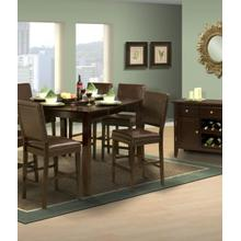 """Style 19 54"""" Counter Height Table and 6 Abbie Wood Chair"""