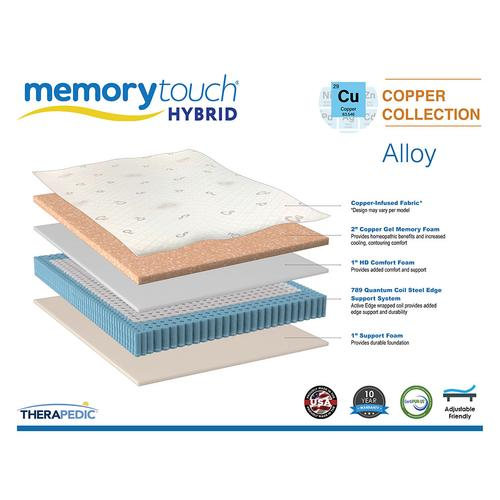 Therapedic - Memorytouch Hybrid- Copper Collection - Alloy