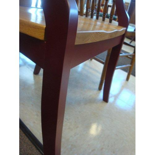 Amish La Croix Cross Back Solid Wood Dining Chair