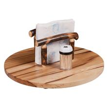"15"" Lazy Susan w/ Napkin Holder"