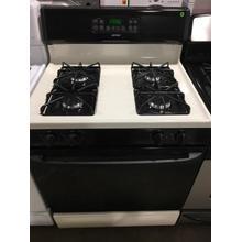 "Used Bisque and Black Hotpoint® 30"" Free-Standing Gas Range"