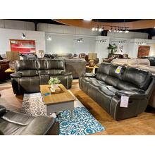 El Paso Steel Leather Reclining Sofa & Loveseat