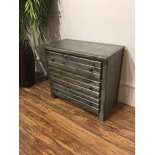 3 Drawer Chest Rustic Grey