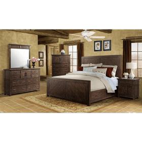 9Pc. Jax Rustic King Storage Bedroom Group